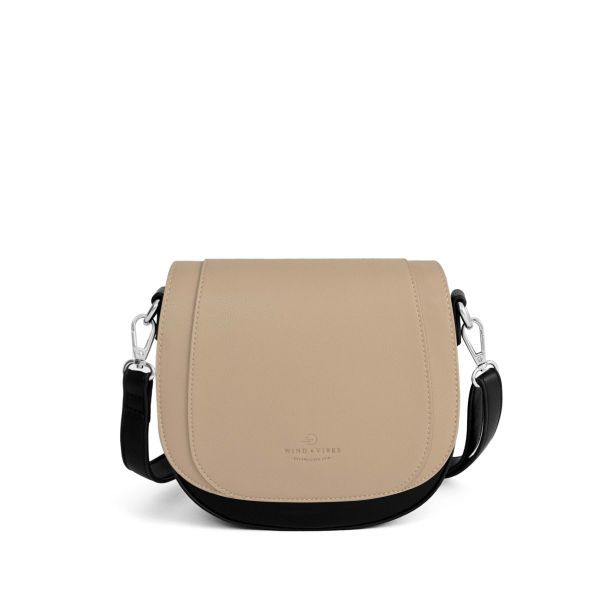 Set Lima Vegan Black + Flap Taupe Vegan M