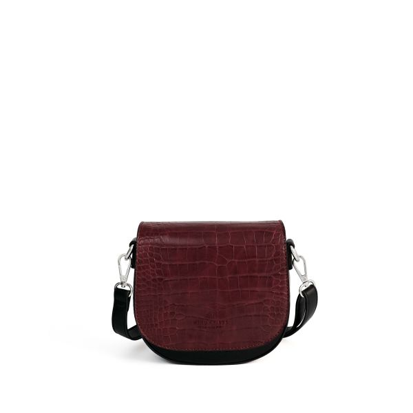 Set Lima Vegan Black + Flap Croco Bordeaux