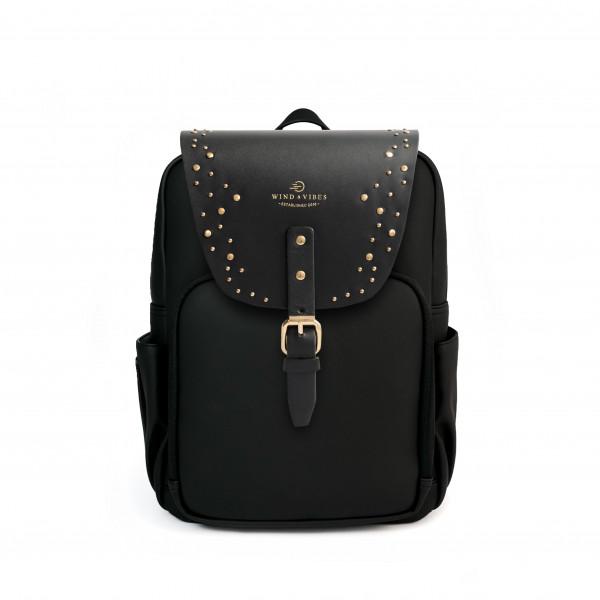 Mayfair Vegan Plus Black + Flap Sparkle Gold M