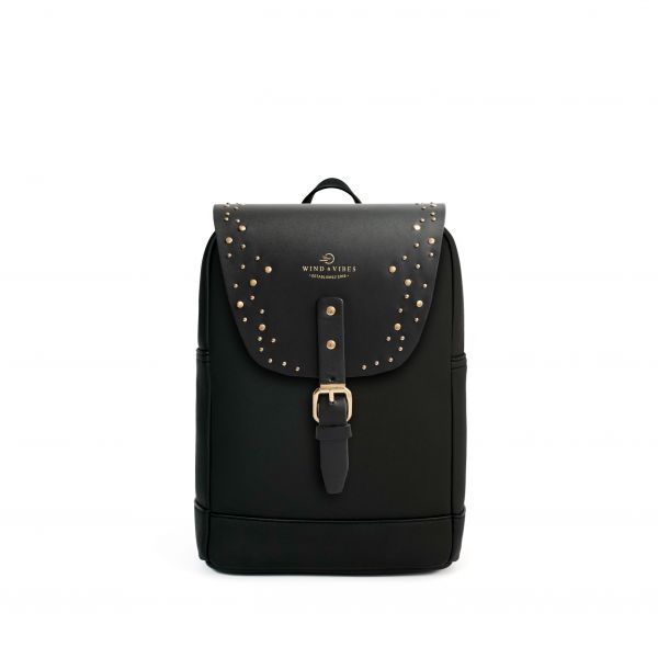 Mayfair Vegan Black + Flap Sparkle Gold