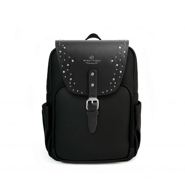 Mayfair Vegan Plus Black + Flap Sparkle Silver M
