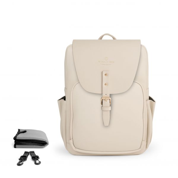 Set Wickelrucksack Cream + Flap Cream M
