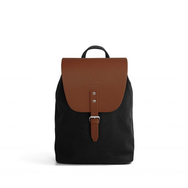 Frisco Canvas S + Flap Classic Cognac