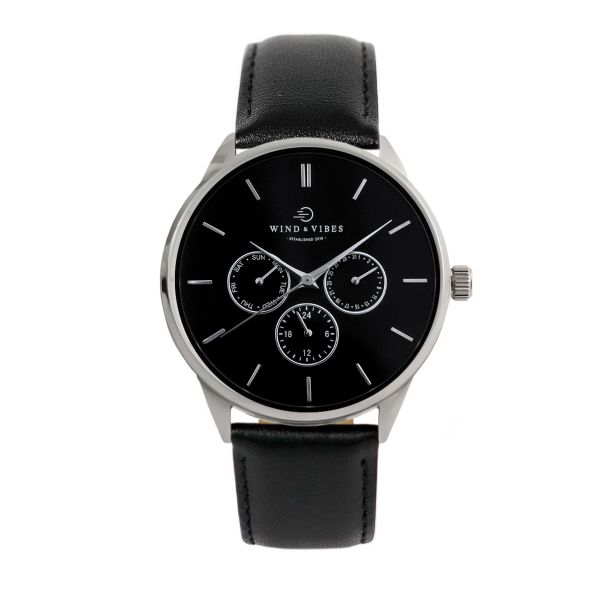 Set Tokyo Black/Silver + Straps Leather Black 40mm