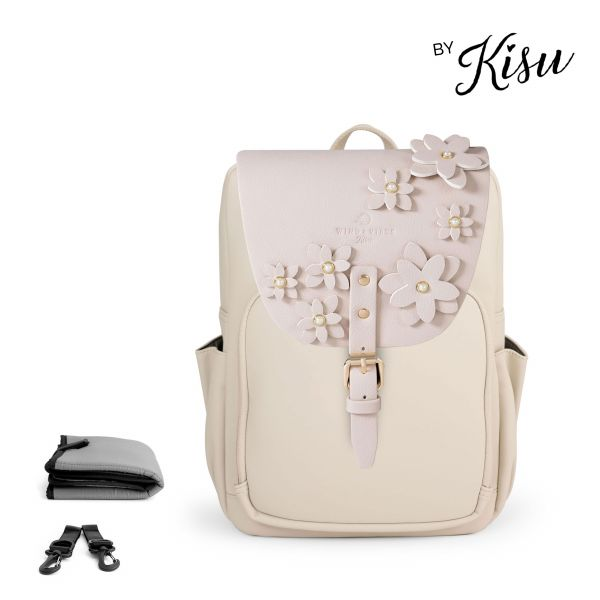 Set Wickelrucksack Cream + Flap Flower Collection by Kisu M