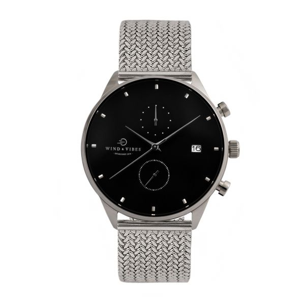 Set Oslo Silver/Black + Straps Metallic Silver 40mm
